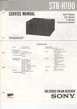 SONY Service Manual Konvolut STR-H100/H2800 - B2044