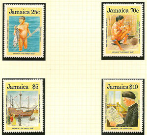 JAMAICA:1989 Discovery of America set 1+ M/Sheet SG 750-3 +MS74 unmounted mint