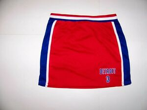 #3 Detroit Kids Girls Basketball Skirt - Size SMALL