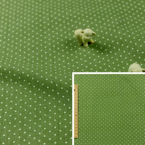 GREEN FQ Fat Quarter//MeterHessian Natural Linen Fabric2mm Polka Dots Spots
