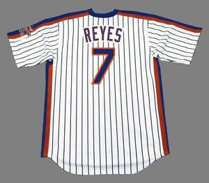 reputable site a0fe3 f9cfb Details about JOSE REYES New York Mets 1986 Majestic Throwback Home  Baseball Jersey