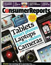 Consumer Reports Magazine August 2012 Back Issue FREE SHIPPING