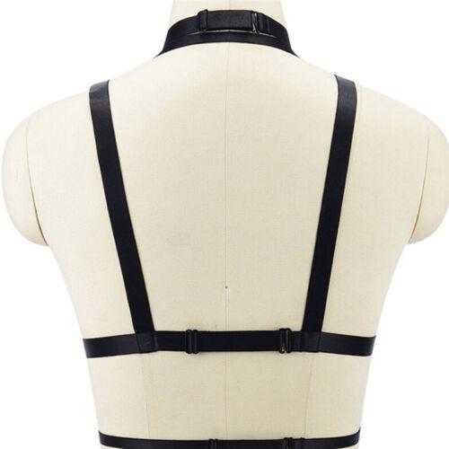 Womens Body Harness Cross Crop Elastic Bandage Goth Cage BRA Straps Lingerie ✓V!