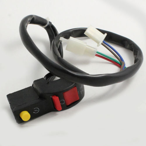 7//8 in handlebar 2 plugs for Dirt bikes On//off starter Switch 4 Wire ATV
