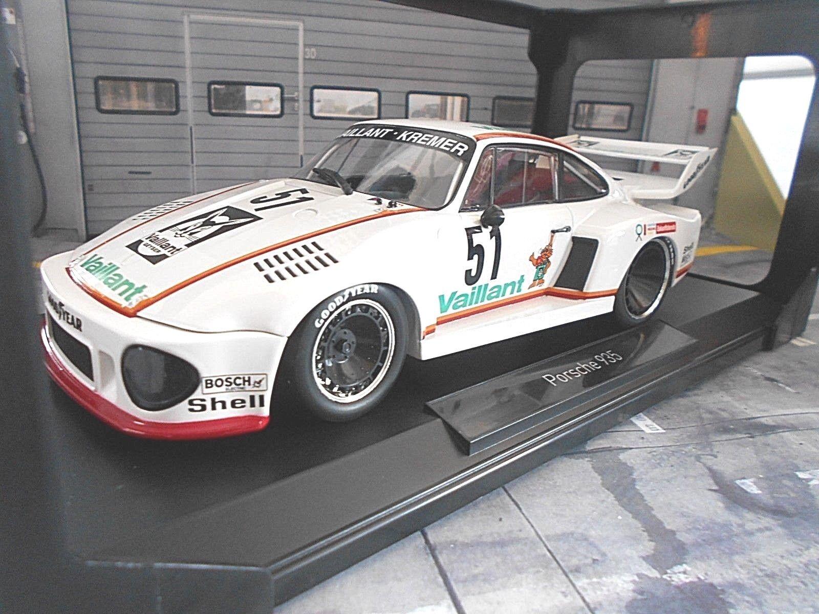 PORSCHE 935 Turbo Kremer Vaillant Drm 1977 Zolder VAILLANT VAILLANT VAILLANT  51 Wollek NOREV 1 18 3a994d