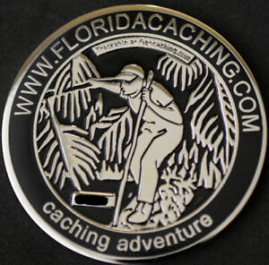 2007-FLORIDA-GEOCACHING-GEOCOIN-N-U-T-NEW-HTF