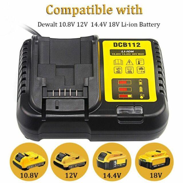 DCB112 Battery Charger for DeWalt 10.8V 14.4V 18V 2A XR Li-ion Batteries,220V