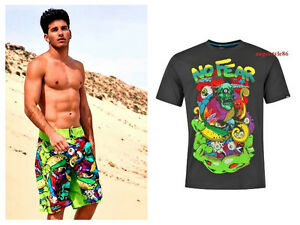 Costume bagno piscina surf short no fear uomo teschio mare t shirt s m l xl xxl ebay - Costume intero uomo piscina ...