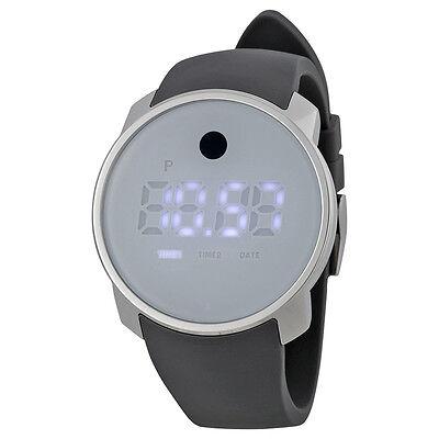 Movado Bold Purple Digital Dial Grey Silicone Ladies Watch 3600253