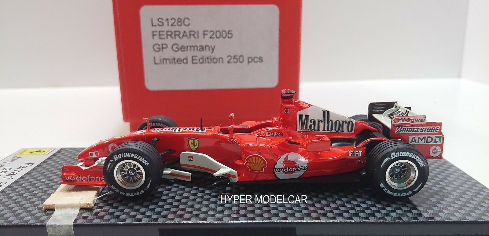 LOOKSMART 1 43 Ferrari F1 F2005  1 Gp Germany Schumacher Barrichello Art. LS128C