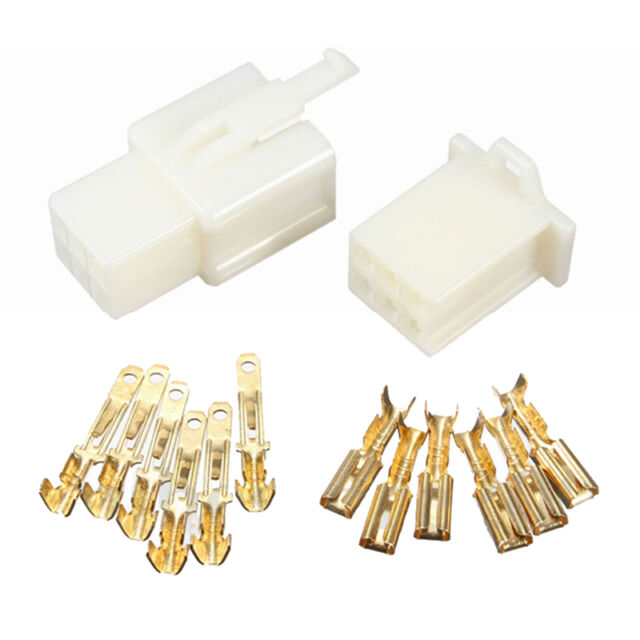 10pcs 6Way 2.8mm Mini Connector Kit For Honda Pin Car Terminal Blade W8O7