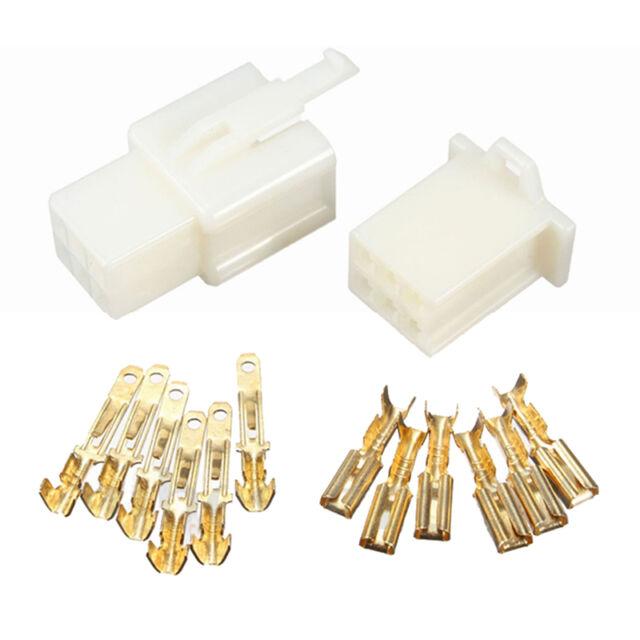 10pcs 6Way 2.8mm Mini Connector Kit For Honda Pin Car Terminal Blade W8O7