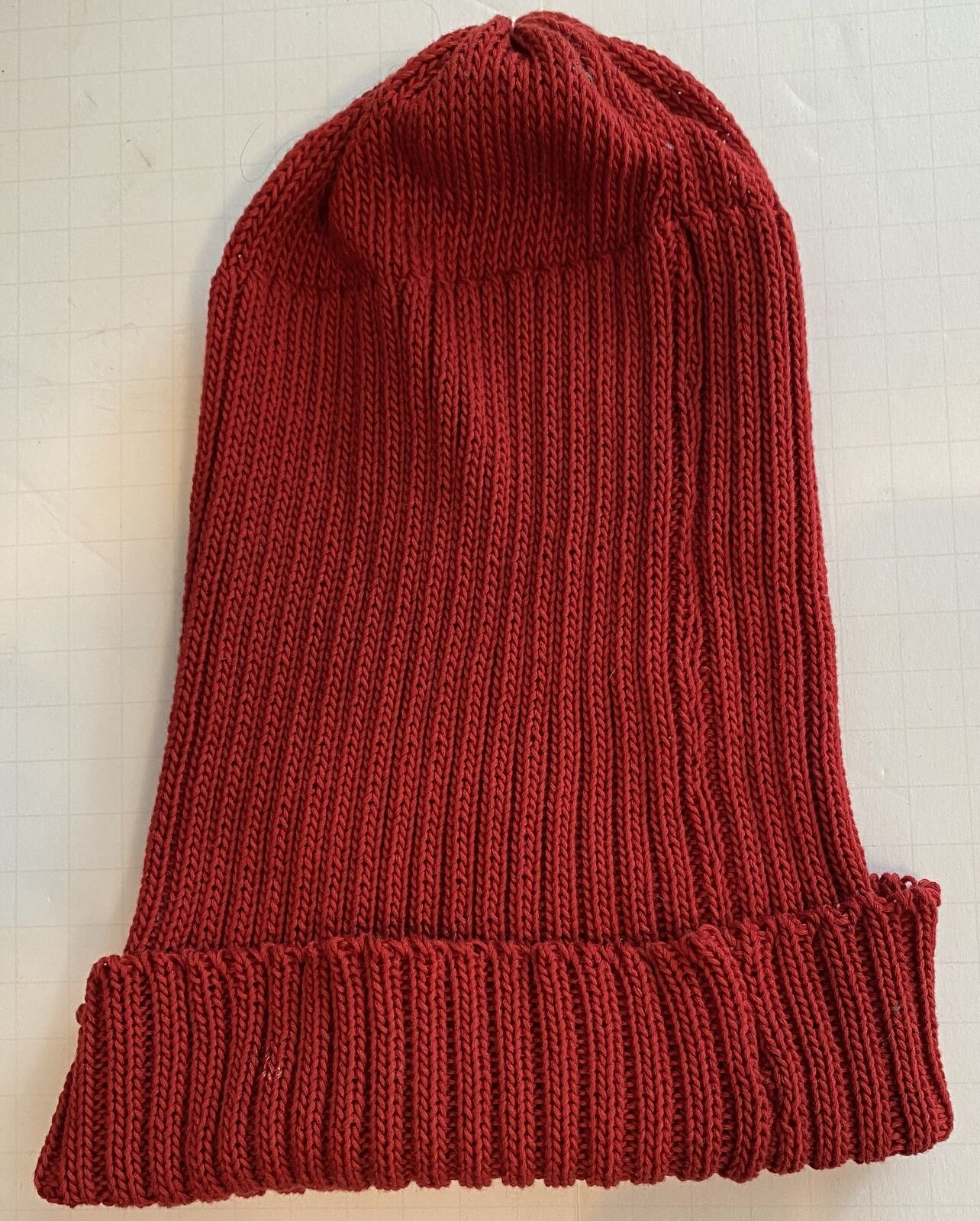 PATRICIA UNDERWOOD KNITS red ribbed beanie hat  - image 3