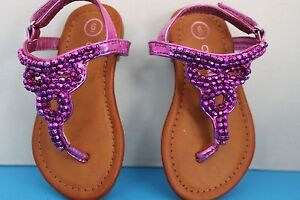 53b367385 Image is loading Cherokee-Toddler-Girls-Shiny-Fuschia-PINK-Purple-Beaded-