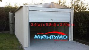 Garden-Shed-3-4-x-5-8-x-2-5m-Garage-Workshop-Steel-Large-Sheds
