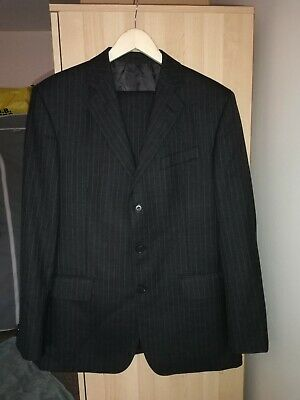 Austin Reed Mens Suit Grey Pinstripe Size 36 Regular Pre Owned Ebay