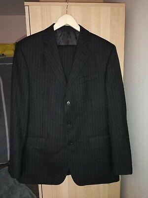 Austin Reed Mens Suit Grey Pinstripe Size 36 Regular Pre Owned Ebay