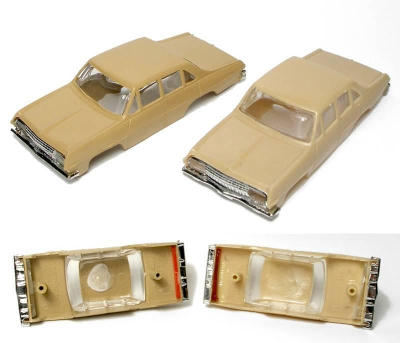 1960s Foreign Faller Opel Diplomat Slot Car Body PAIR