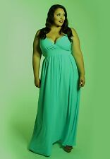6c93e617908 item 1 Plus Size Maxi Dress Empire Waist Sleeveless Polyester Blend Solid  1X-6X SWAK -Plus Size Maxi Dress Empire Waist Sleeveless Polyester Blend  Solid ...