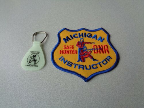 MICHIGAN DNR SAFE HUNTER INSTRUCTOR PATCH,SHORT HAIR INSTRUCTOR /& KEY RING-DEER