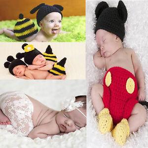c44c9467e Image is loading Baby-Newborn-Girls-Boys-Bee-Pants-Headband-Photography-