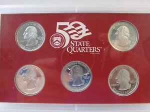 (2) 1999-s Silber Us Vereinigte Staaten Ungebraucht Beweis Münze Set & 2006