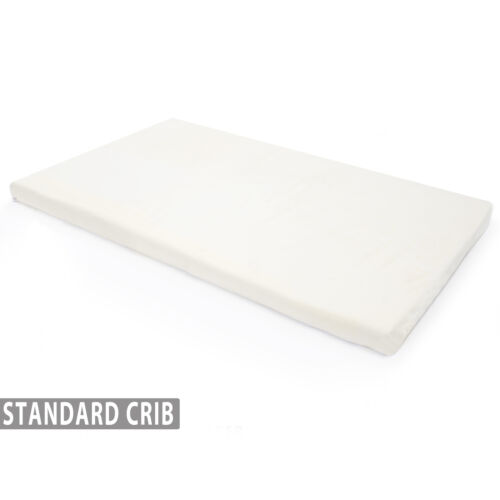 Memory Foam Crib Mattress Topper with Waterproof Cover For Standard Cribs