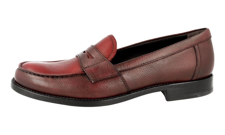 shoes PRADA PRADA PRADA SAFFIANO LUXUEUX 1D055F GRANATO RUBINO NOUVEAUX 39 39,5 UK 6 45ff0c