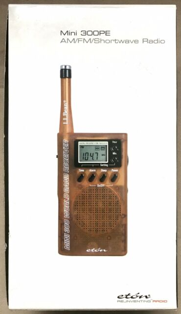 NEW Eton Mini 300PE AM/FM Shortwave Radio  LL Bean Orange