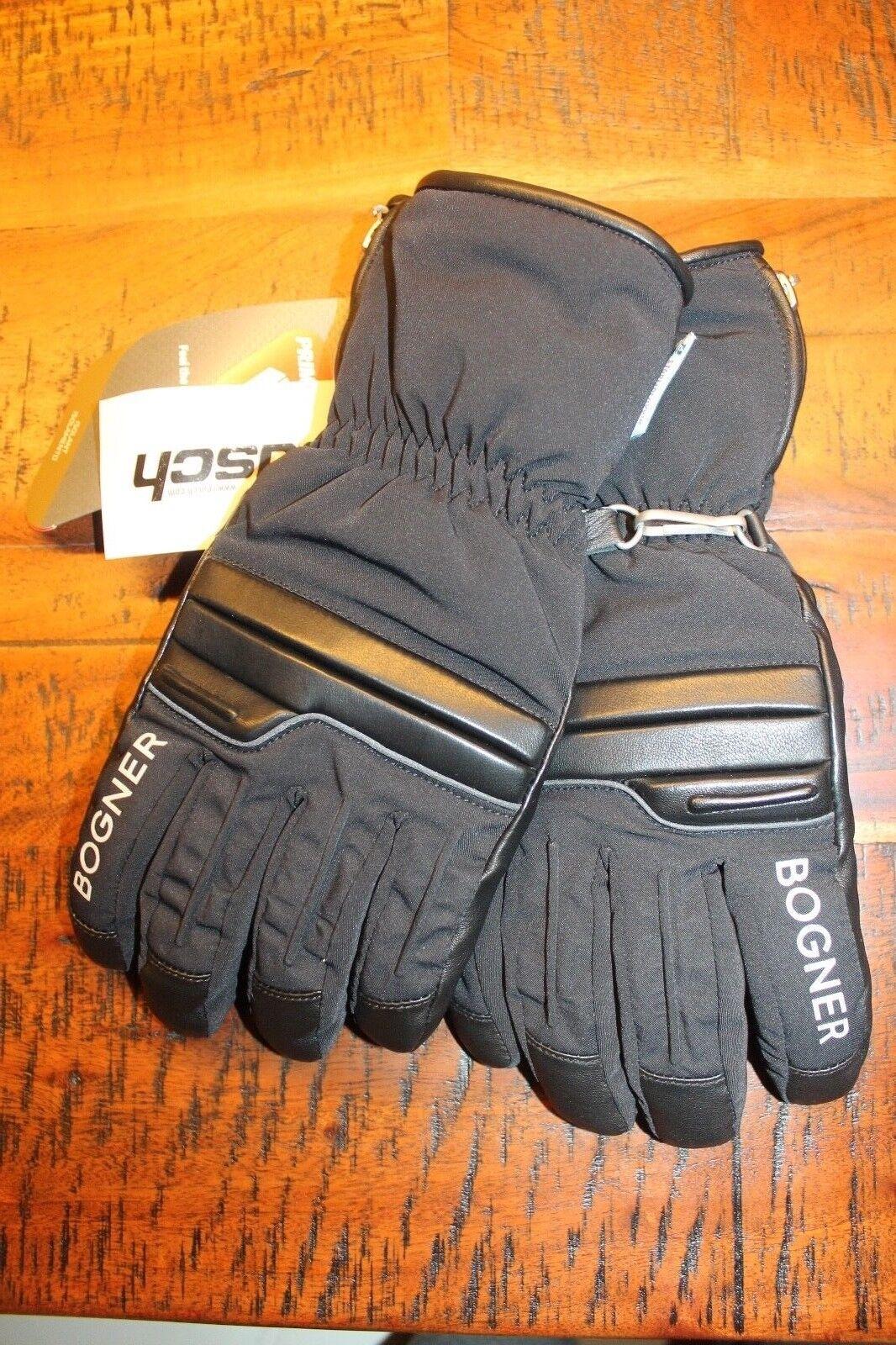 Bogner Beppo Leder Handschuhe Schwarz Windproof Größe 8,5 M Neu mit Etikett