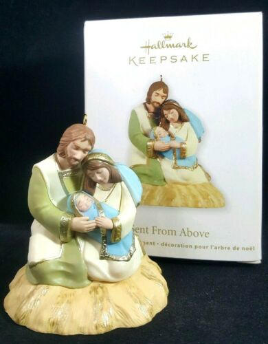 Christmas Ornament Hallmark Keepsake Sent From Above Nativity Mary Baby Jesus
