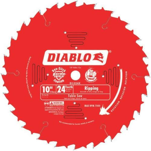 """10/"""" 24T Freud Diablo Circular Saw Blade D1024X"""