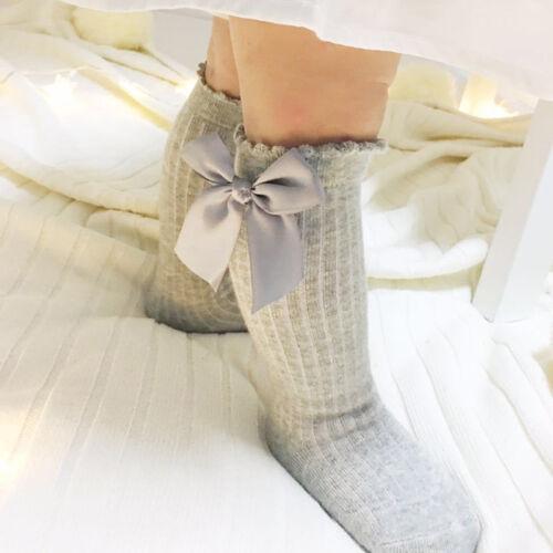 Baby Girl Socks High With Bows Princess Socks cute Baby Socks Long Tube Booties
