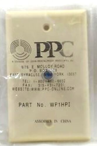 PPC SINGLE RG-6 F-TYPE COAX CABLE WALL PLATE IVORY PART # WP1HPI NEW