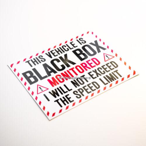 Van Autocollant Vinyle Autocollant Véhicule Boîte Noire surveillée dépasse pas de Limite de Vitesse Voiture