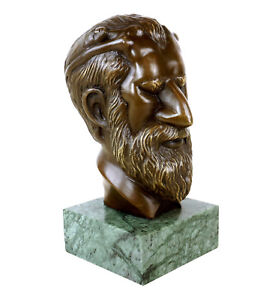Sigmund-Freud-Bronze-Bueste-What-039-s-on-man-039-s-mind-Erotik-Bueste-Gladenbeck