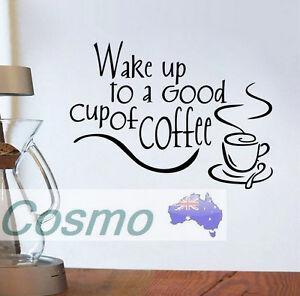 WALL-STICKER-SHOP-KITCHEN-Coffee-Breakfast-Cup-Morning-Wake-Door-Decals-Vinyl