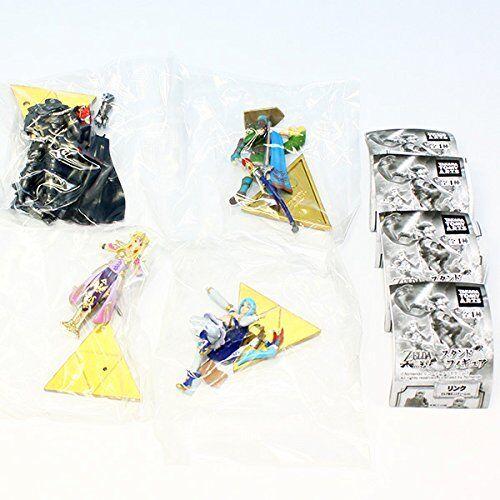 Hyrule Warriors Stand Figure set of 4 The Legend of Zelda Gashapon New Japan