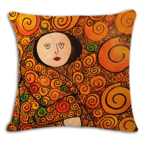 18/'/' Fashion Cotton Linen Vintage Gustav Klimt Pillow Case Cushion cover