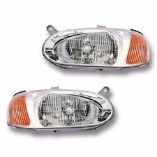 Fits 98-01 KIA Sephia Driver + Passenger Side Headlight Lamp Assembly 1 Pair