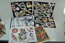 MPLS Murderapolis lady Dragons Tattoo Color Flash Wall Art LOT 6 Sheets Jon boy