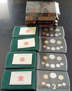 Lot-Of-4-Canada-Silver-Proof-Sets-2004-2003-2002-2001-ORIGINAL-coinsofcanada