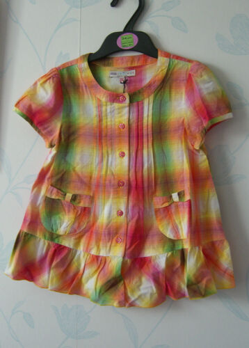 MARKS /& SPENCER INDIGO COLLECTION GIRLS TOP AGES 3-4 /& 4-5YRS HOLIDAY