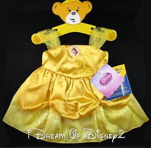 BUILD-A-BEAR BELLE YELLOW COSTUME DRESS TEDDY DISNEY ...