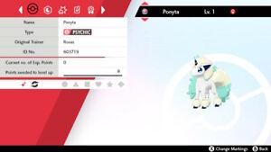 Shiny Ponyta Rapidash Galarian Form 6 Iv Pokemon Sword Shield Ebay