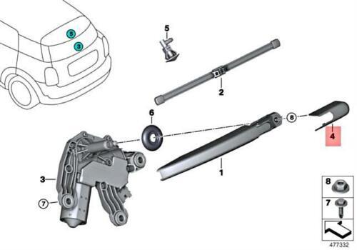 Genuine MINI BMW I Cooper JCW One I3 I3s F60 I01 Wiper Axle Cover 61627344668
