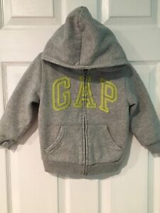 Gap Boy's Sherpa Lined Hoodie Thick Sweatshirt Jacket Sz S