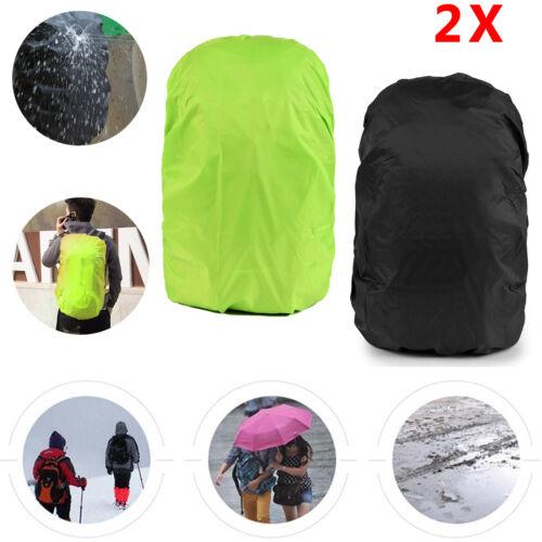 2Stk Wasserdichte Schulranzen Rucksack Regenhaube Regenschutz Regenhülle