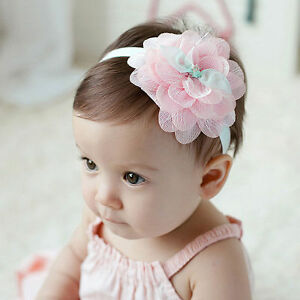 e70ca7a19 Toddler Newborn Baby Girl Lace Huge Flower Headband Hair Band Hair ...