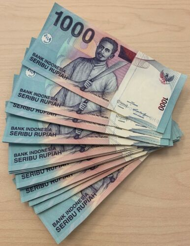 INDONESIA RUPIAH 1000 x 10 PCS P-141-1//10 BUNDLE UNCIRCULATED 2013-2016